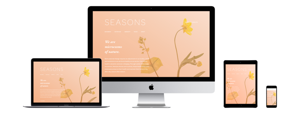 XYZ Design | Seasons Website Device Displays