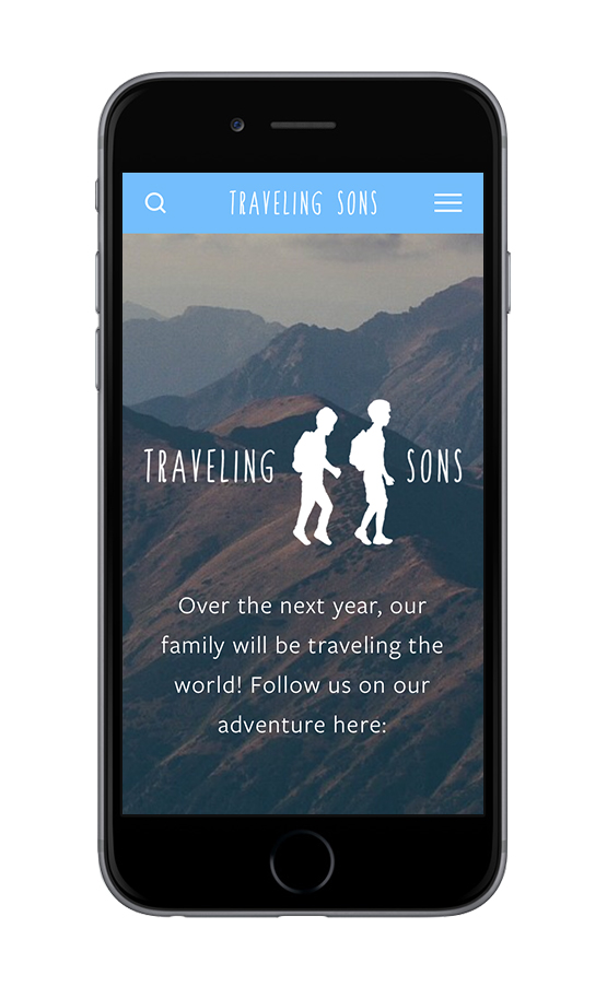 XYZ Design | Traveling Sons Mobile Device Display 1