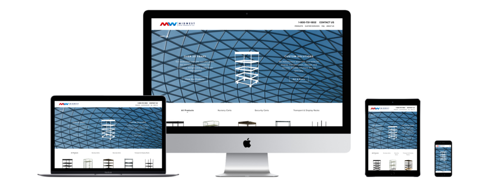 XYZ Design | Midwest Wire Products Website Device Displays