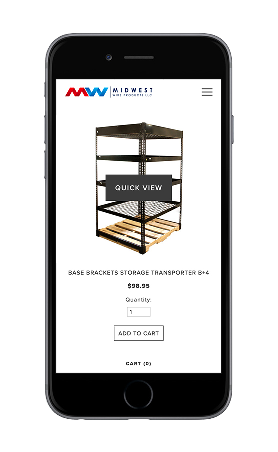 XYZ Design | Midwest Wire Products Mobile Device View 2