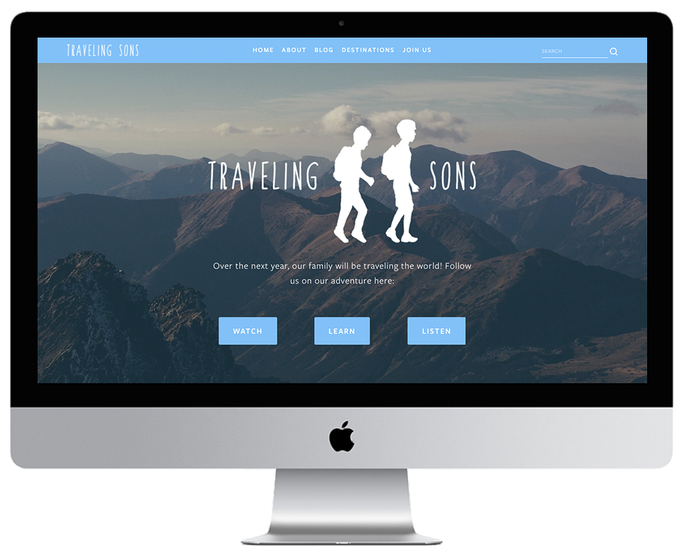 XYZ Design | Traveling Sons Website - Desktop Thumbnail