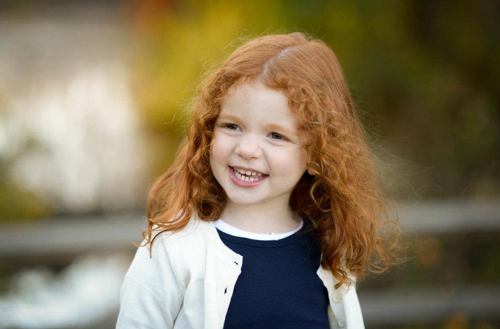 Ginger hair girl at Meadowlark Botanical Gardens Vienna VA