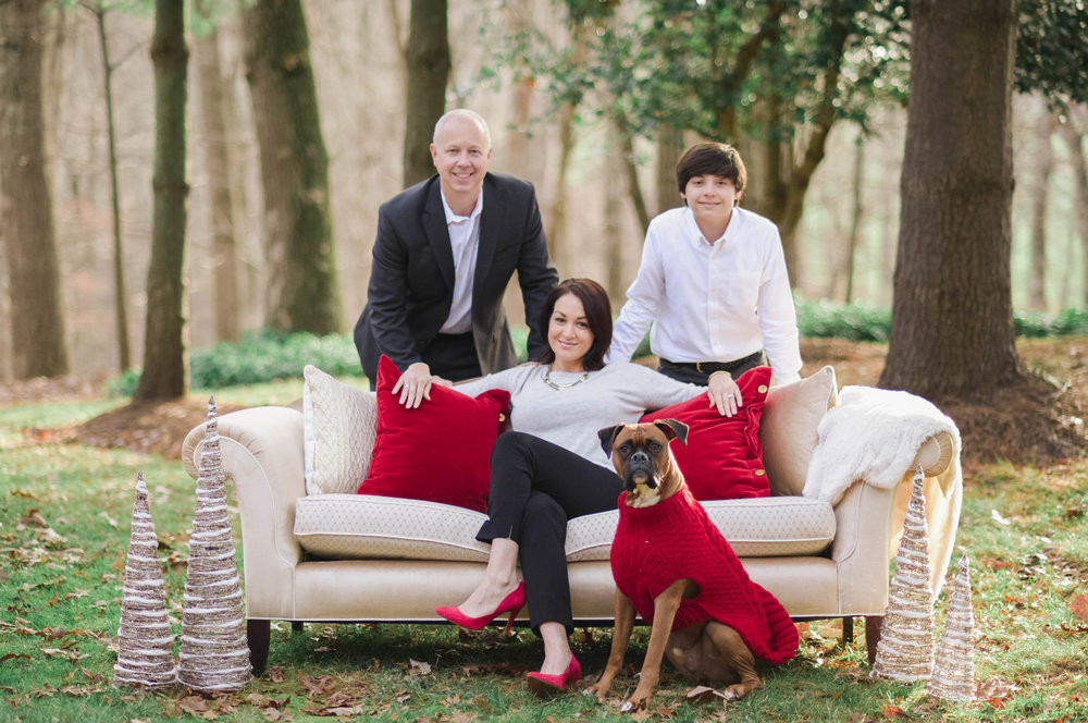 Styled holiday photo session Wolf Trap Park Vienna VA