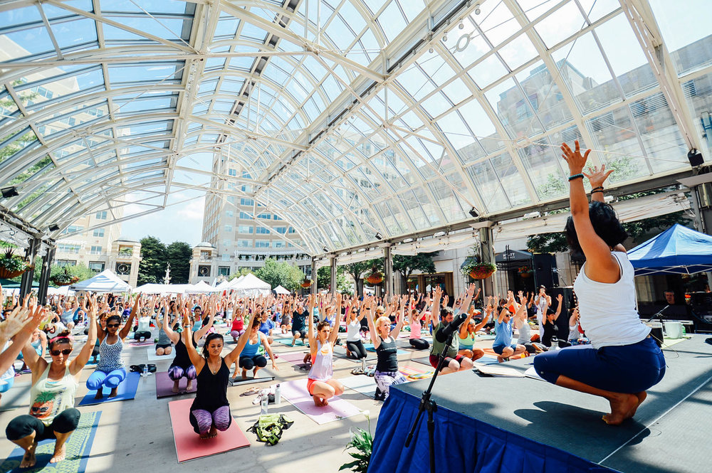 Love Your Body Yoga Festival Reston Town Center Pavillion