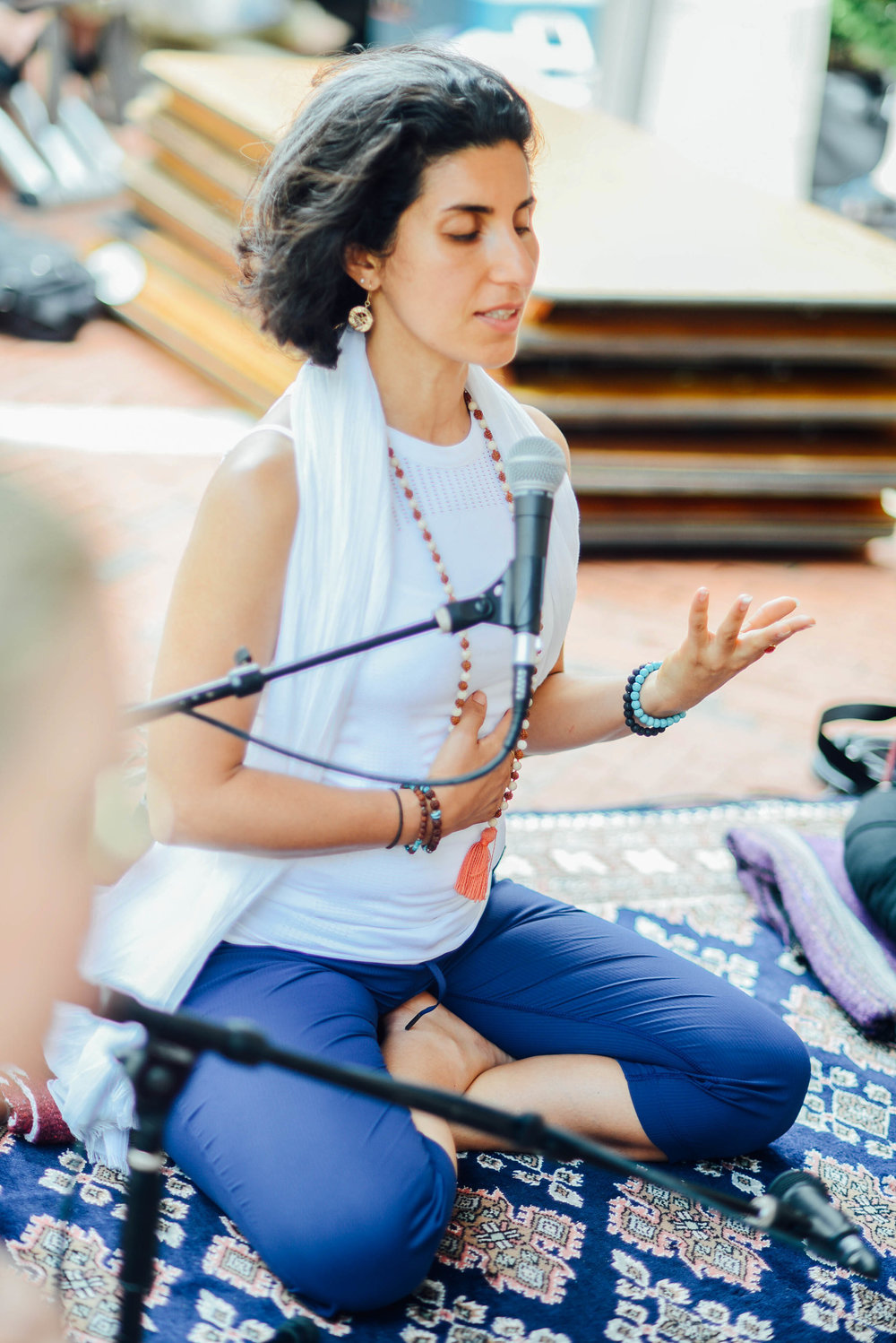 Maryam Ovissi at Love Your Body Yoga Festival Reston Town Center