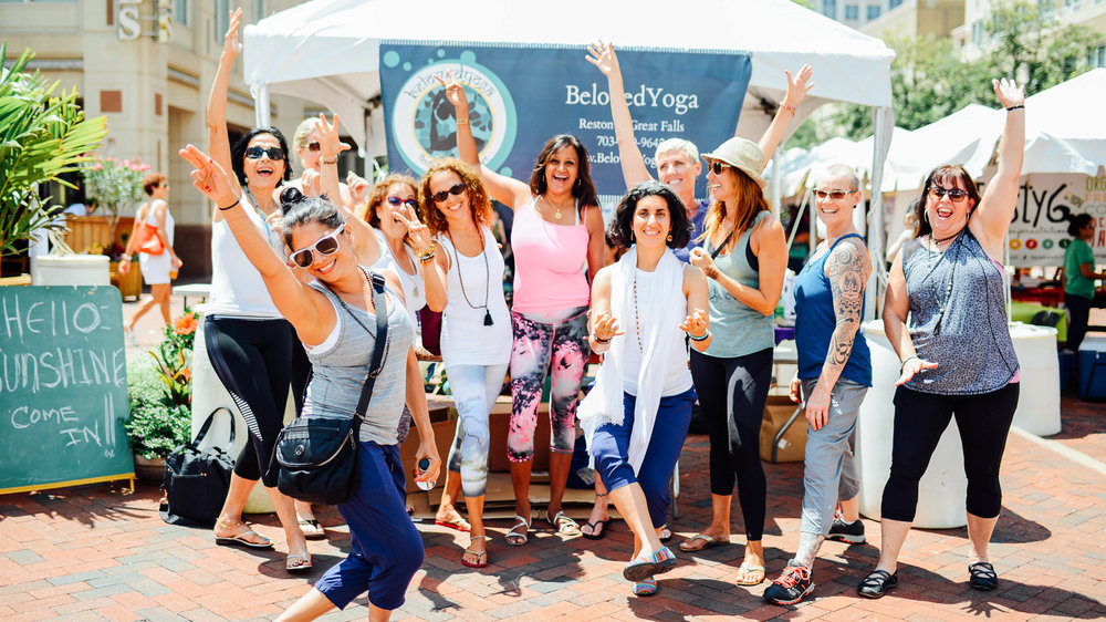 Beloved Yoga at Love Your Body Yoga Festival Reston Town Center