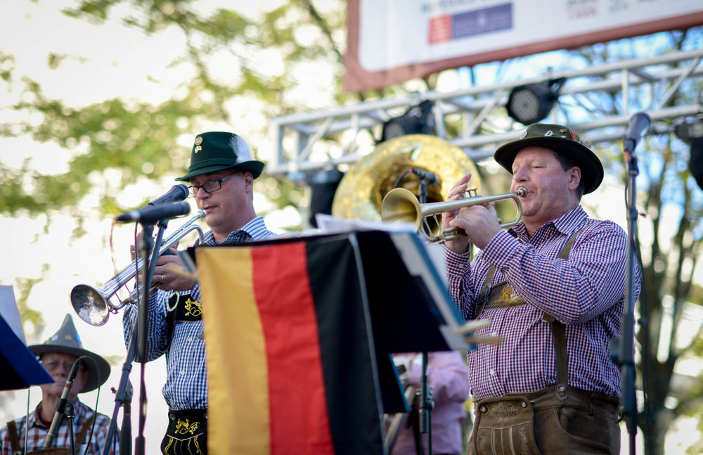 German musicians at Oktoberfest Reston Town Center
