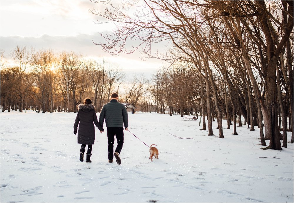 Snow Engagement Photos at Algonkian Regional Park