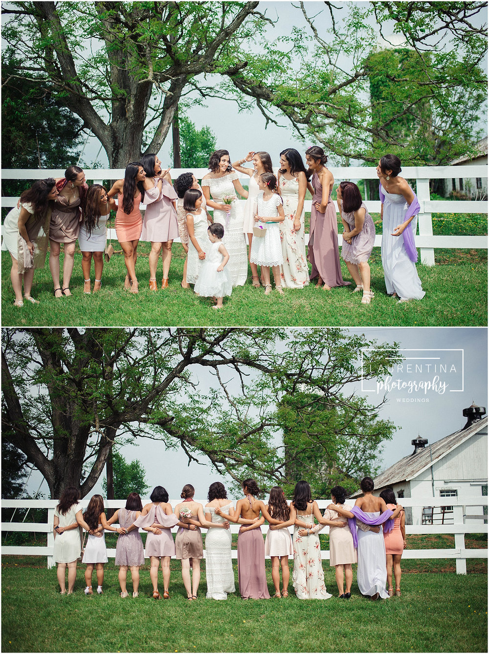 Bridal Party Portraits Bahai Wedding Briar Patch Bed and Breakfast