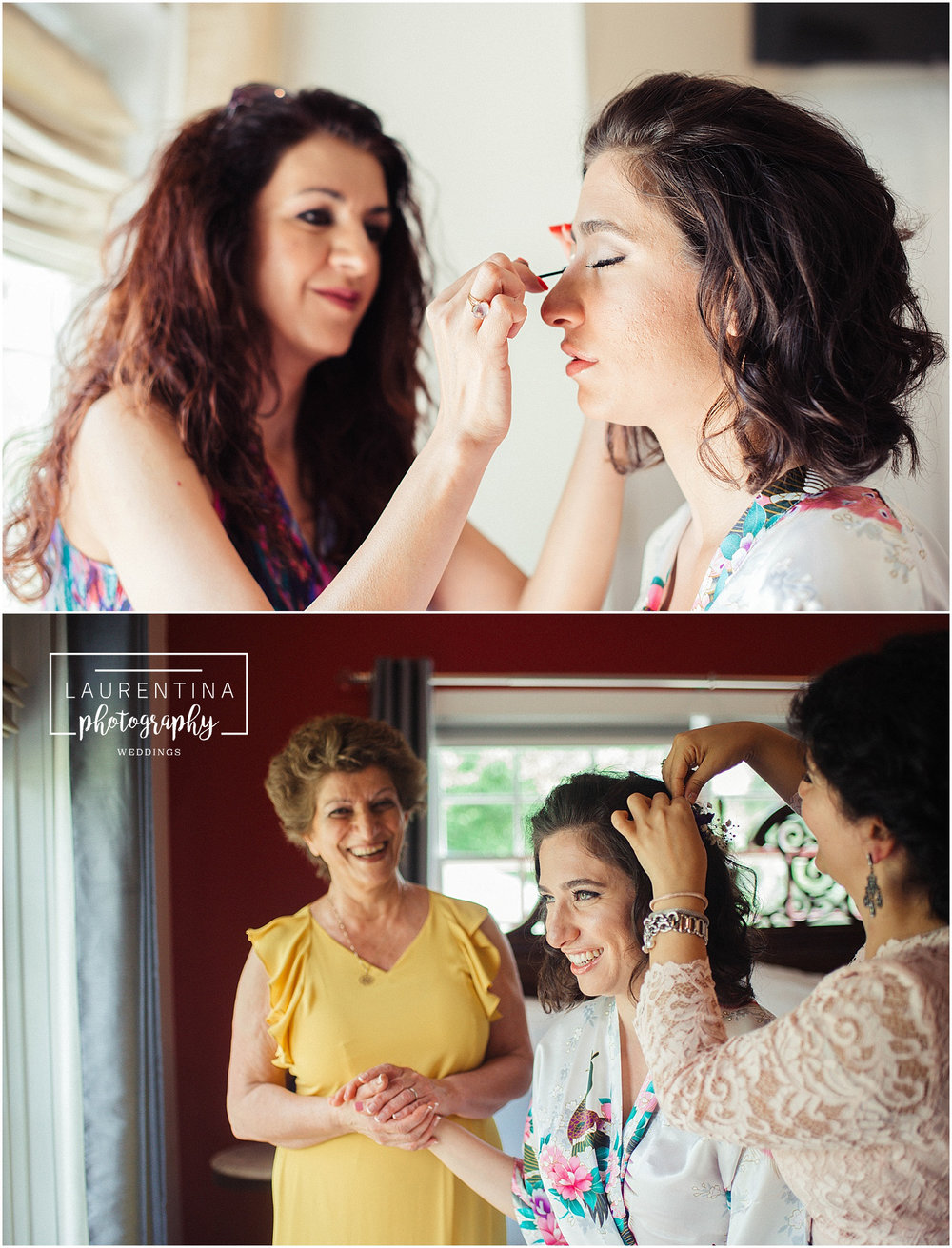 Makeup by Shadi Bride Getting Ready Bahai Wedding Briar Patch Bed and Breakfast