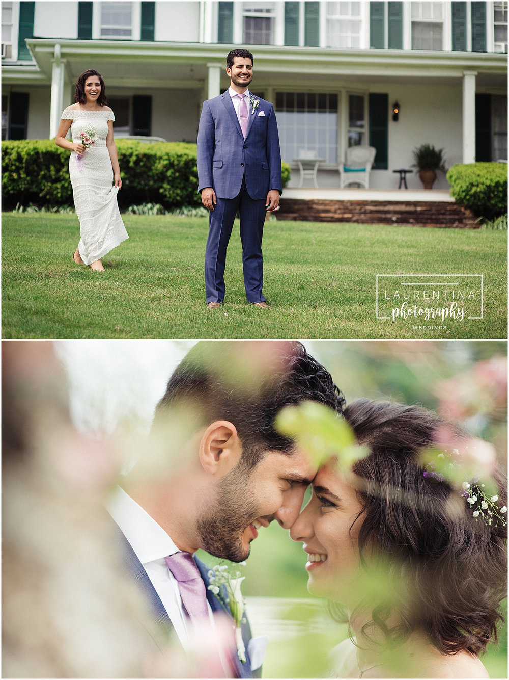 Bride and Groom First Look Bahai Wedding Briar Patch Bed and Breakfast
