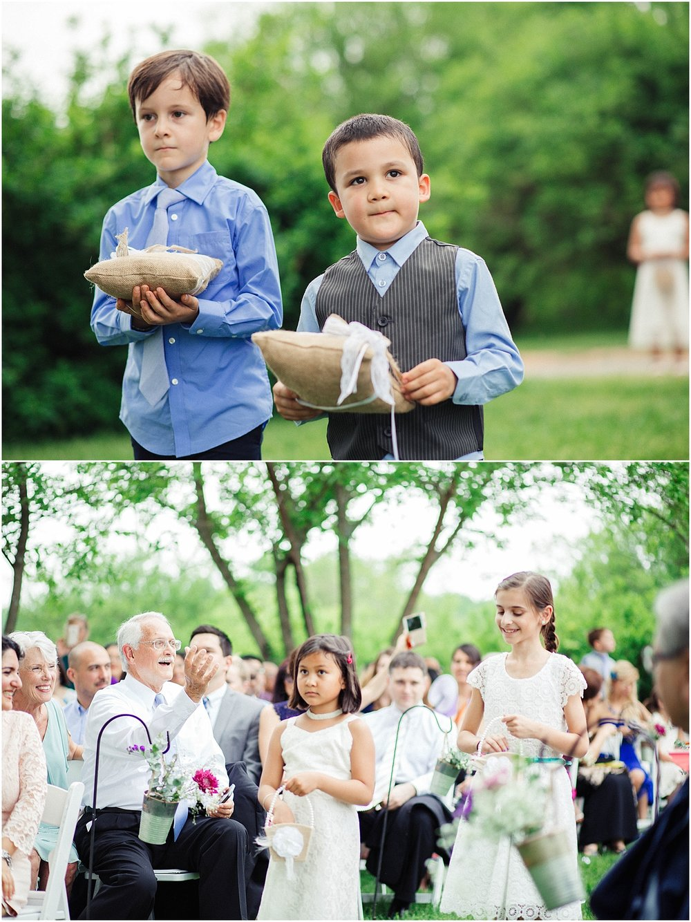 Ring Bearers Flower Girls Bahai Wedding Briar Patch Bed and Breakfast