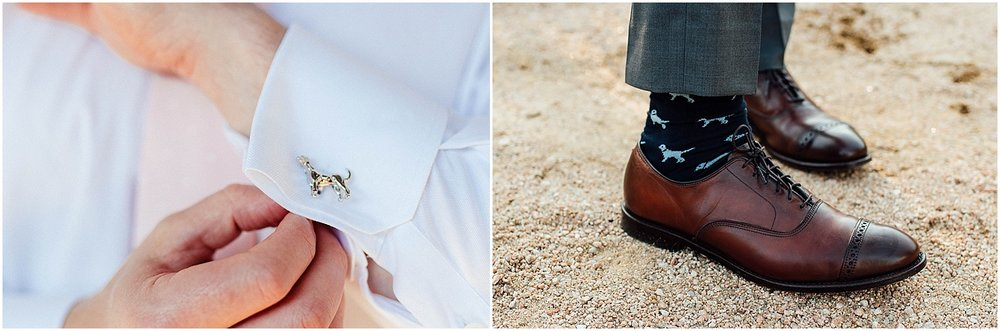J Hilburn dog cufflinks Blush Pink Bridal Details at Lady Bird Johnson Wildflower Center Austin Texas Wedding
