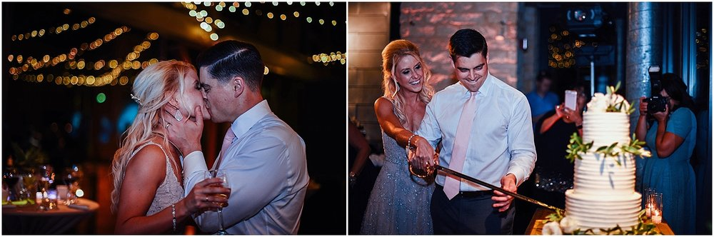 Cake Cutting with Sword at Lady Bird Johnson Wildflower Center Austin Texas Wedding