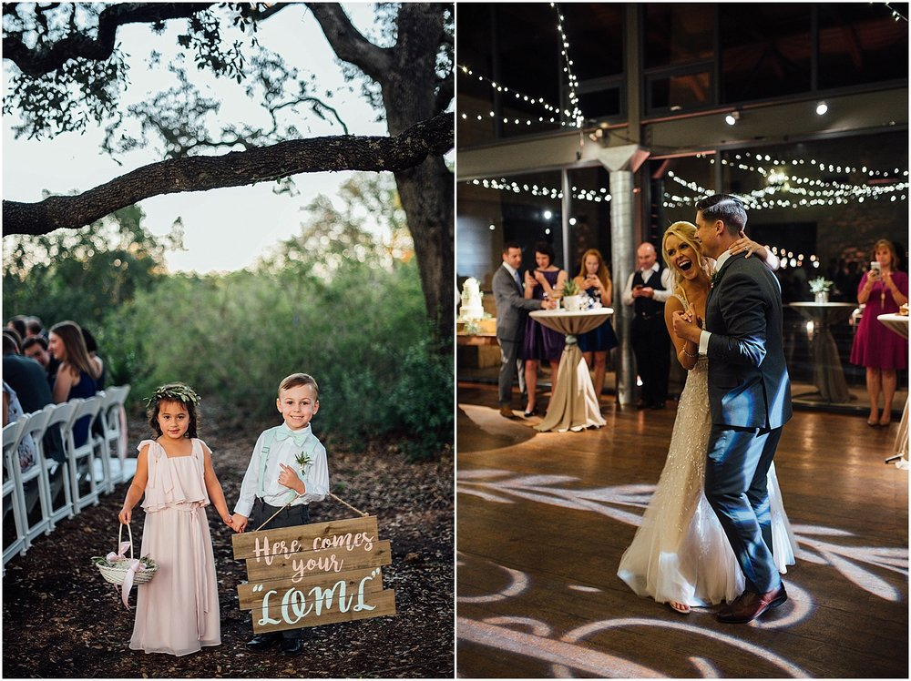 First Dance at Lady Bird Johnson Wildflower Center Austin Texas Wedding