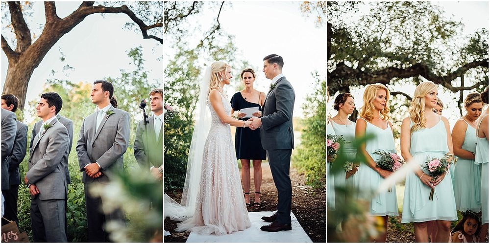 Wedding Party Blush Pink Bridal Details at Lady Bird Johnson Wildflower Center Austin Texas Wedding