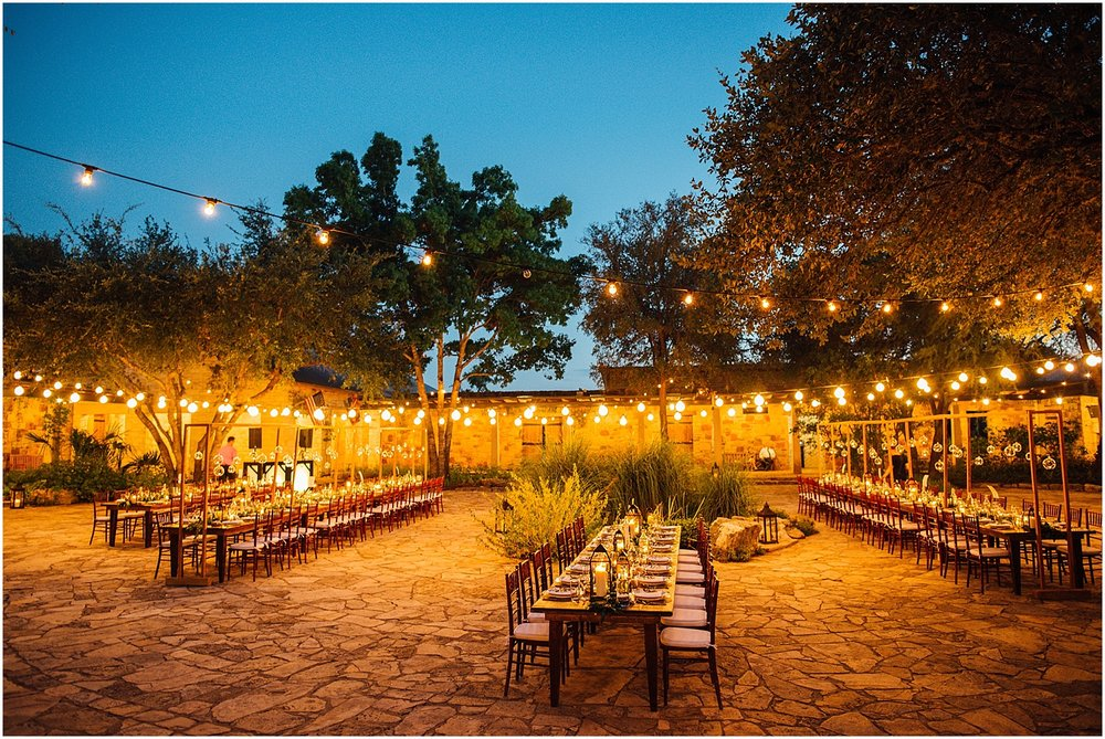 Vineyard Table at Lady Bird Johnson Wildflower Center Austin Texas Wedding