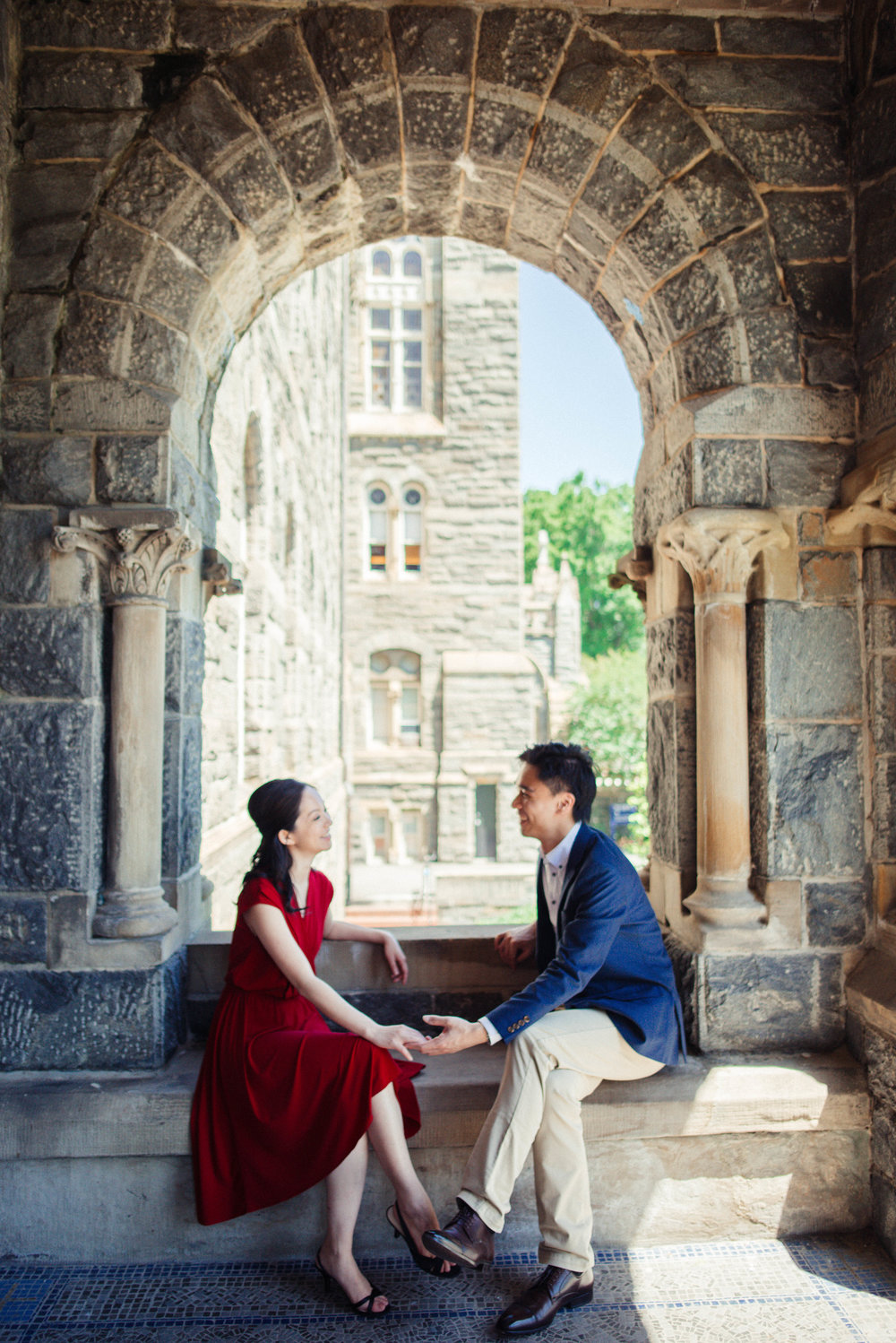 Georgetown University save the date engagement pictures