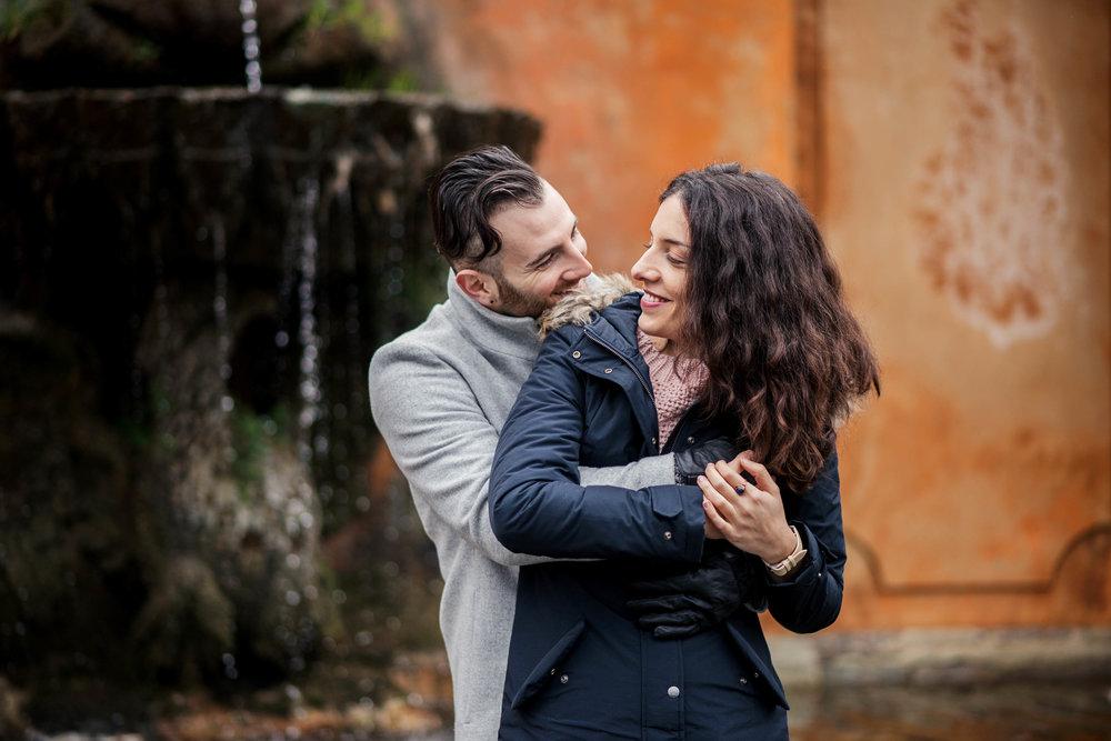Frascati, Italy engagement portraits