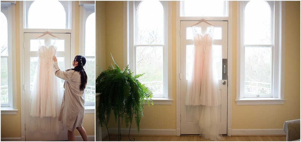 bridesmaid and best friend anthropologie wedding dress