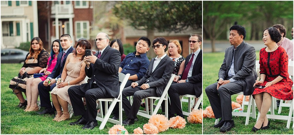 candid reactions of wedding guests