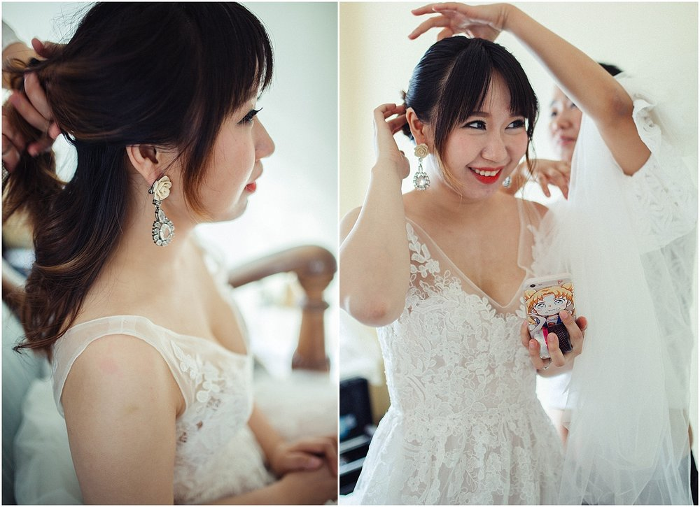 chinese bride getting ready
