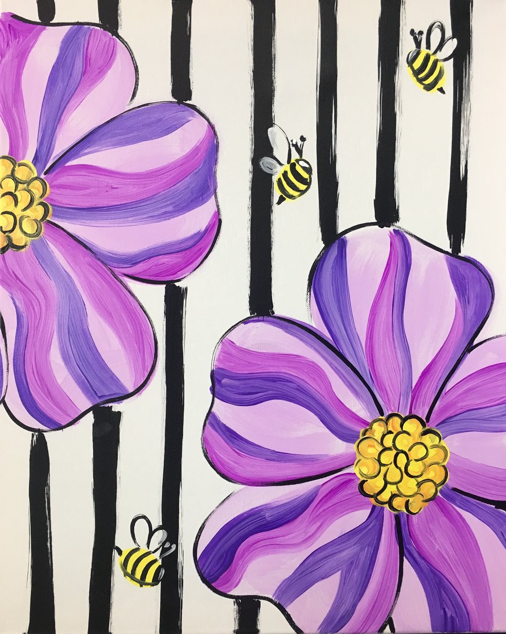 Striped Flowers