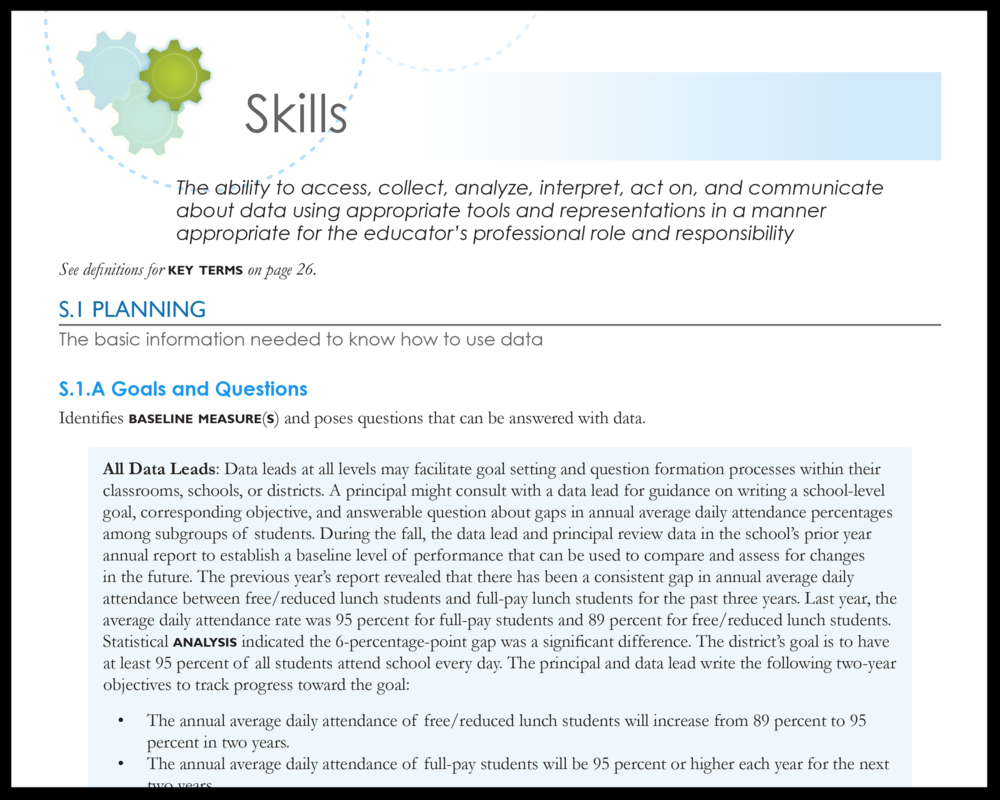 SLDS Data Use Standards: Master Standards for Data Leads