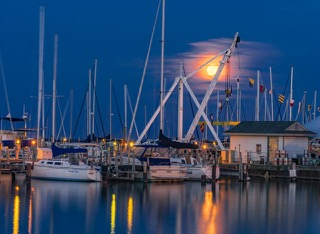 1st place - Moon Rising South Shore - Diane Rychlinski