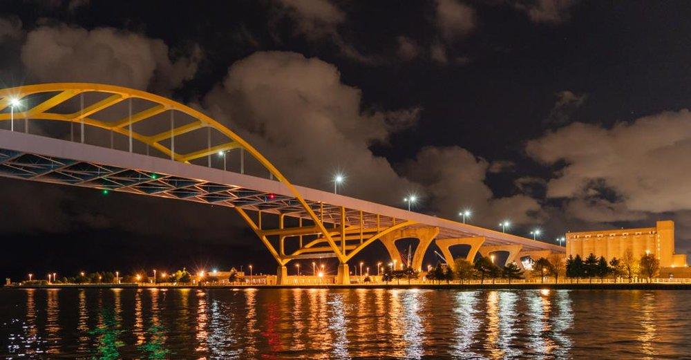 Hoan Bridge - Milwaukee River - Diana Duffey
