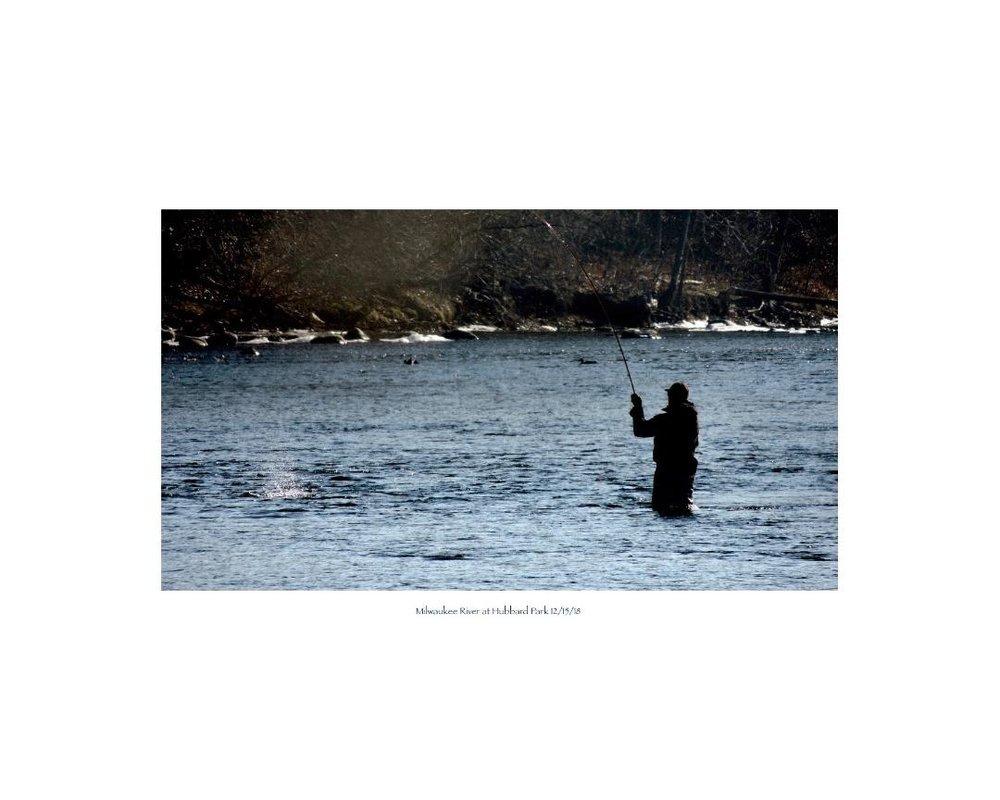 Milwaukee River at Hubbard Park 12/15/18 - John Gray
