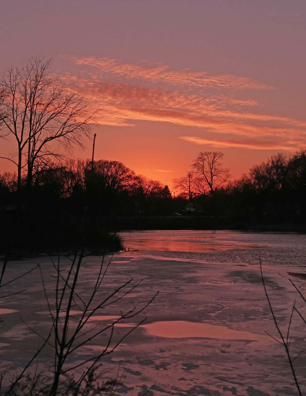 Sunset Over the Milwaukee River - Steve Jarvis