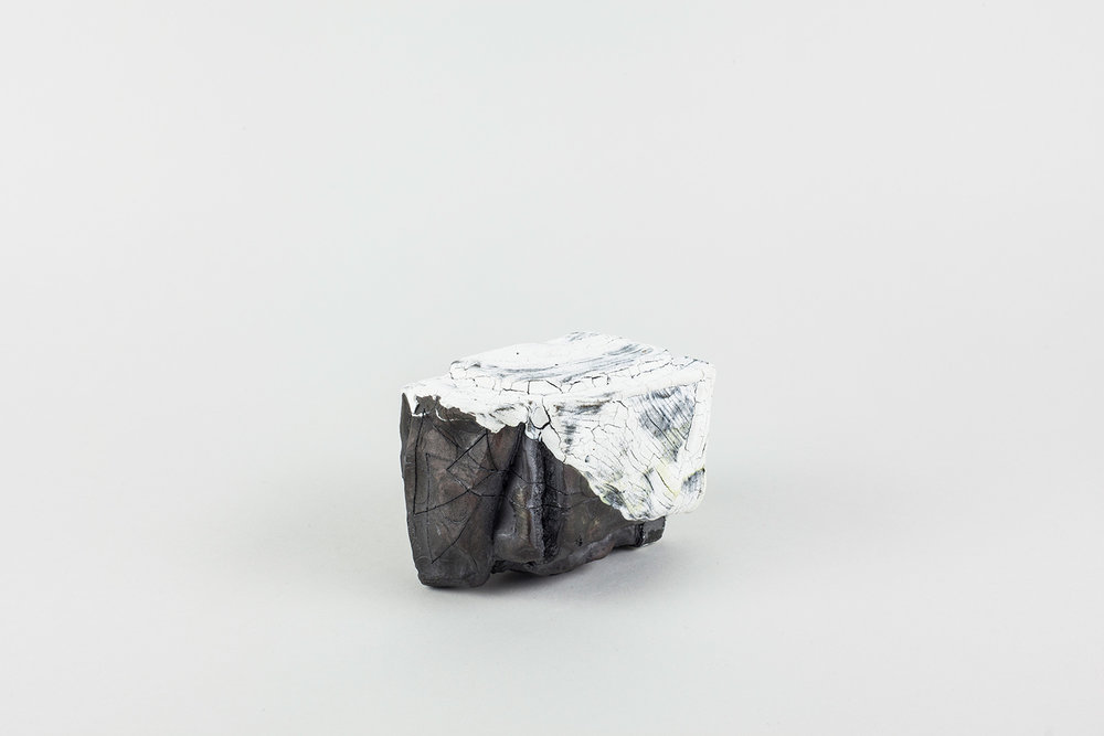 "BRICKVASE_22 . Stoneware. 3.5"" x 4"" x 2.5"". 2015."