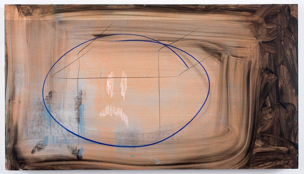 "Wimpo_1 . Acrylic on panel. 13"" x 23.25"". 2010."