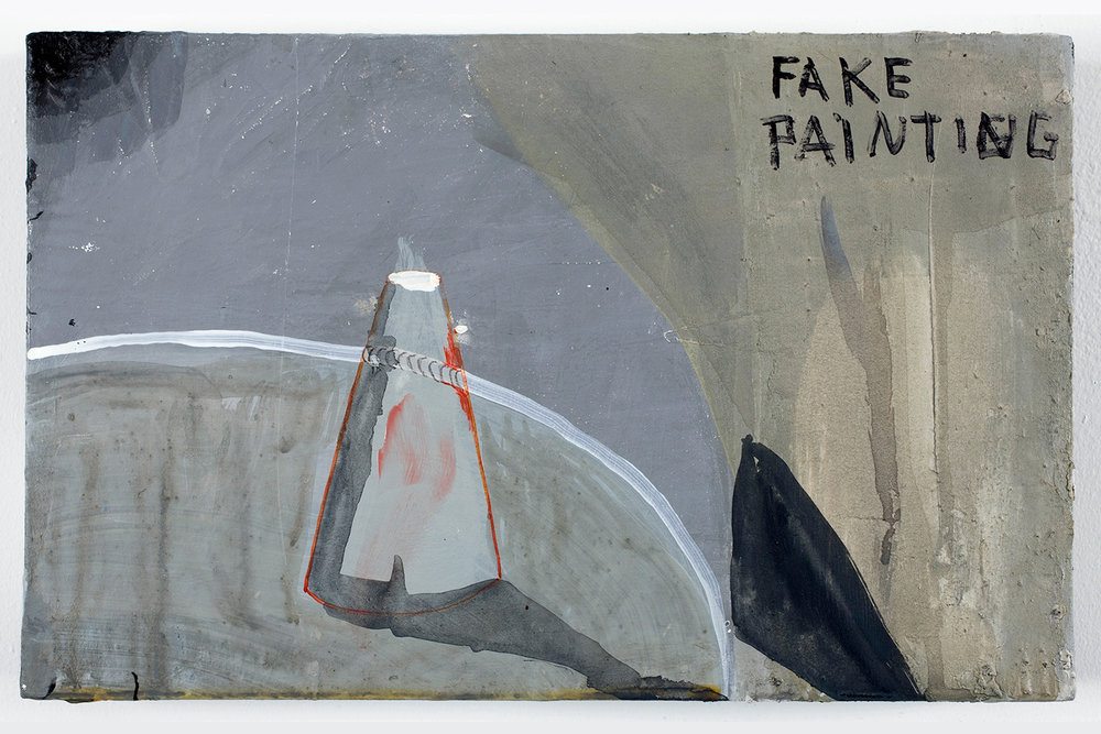 "Fake Painting . Acrylic on panel. 7"" x 11"". 2007."
