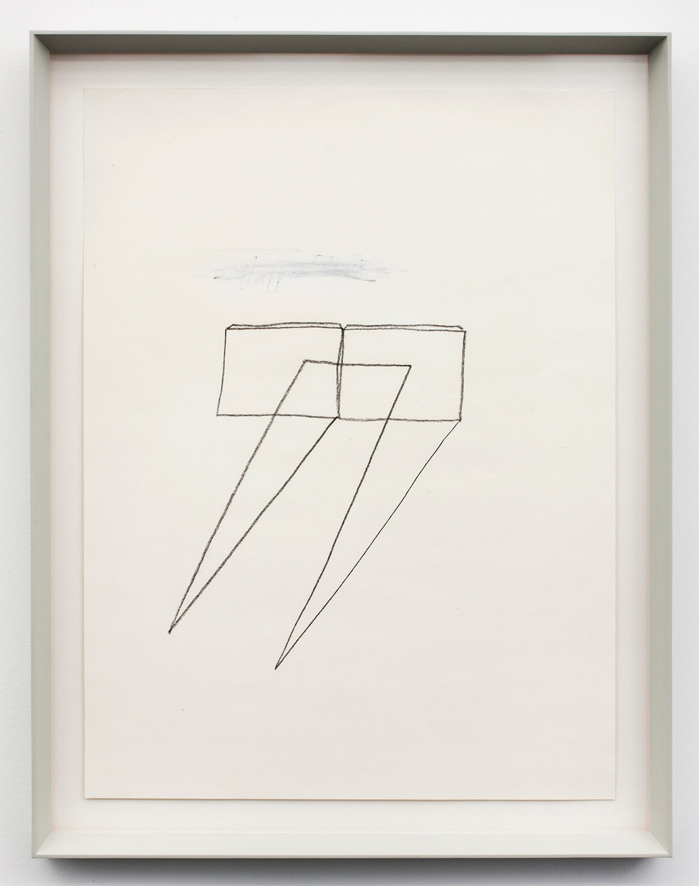 """Happen Stance_ . Graphite, ink, and correction fluid on paper.27.5"""" x 21.25"""". 2012."""