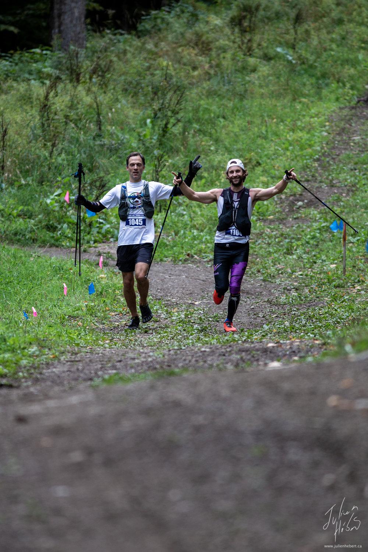 Samuel Tousignant (3ème place) - 1045 - 160km — Sylvain Lavoie (2ème place) - 1104 - 160km