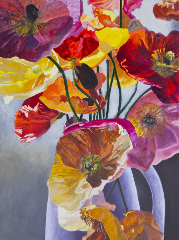 Poppies and White Jug