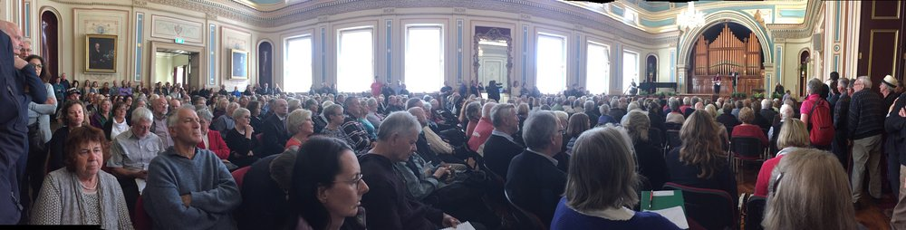 The public meeting, held 8 November 2016,at the Hobart Town Hall was filled to capacity with Tasmanian residents concerned about the new planning laws. Photos by Heather Cassidy