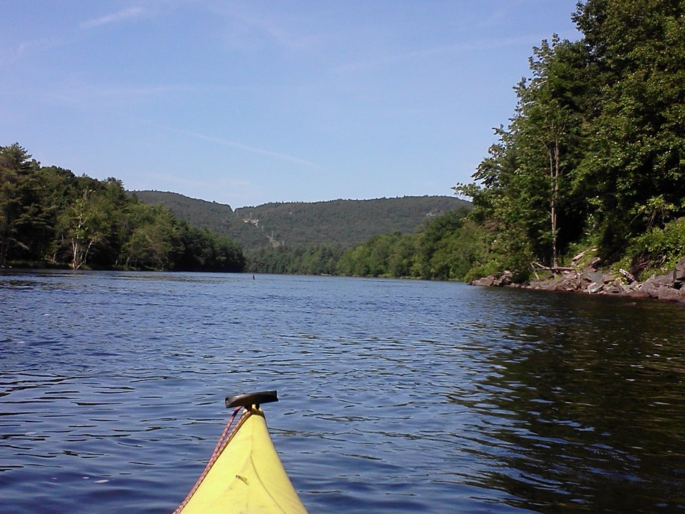 Kayaking on the Hudson River near Moreau, NY.   Land of hiking, biking and kayaking around this area.