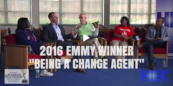 Drew Schwartz, 2016 Midwest Emmy Winning Documentary, Person In The First: Being a Change Agent from HEC-TV.