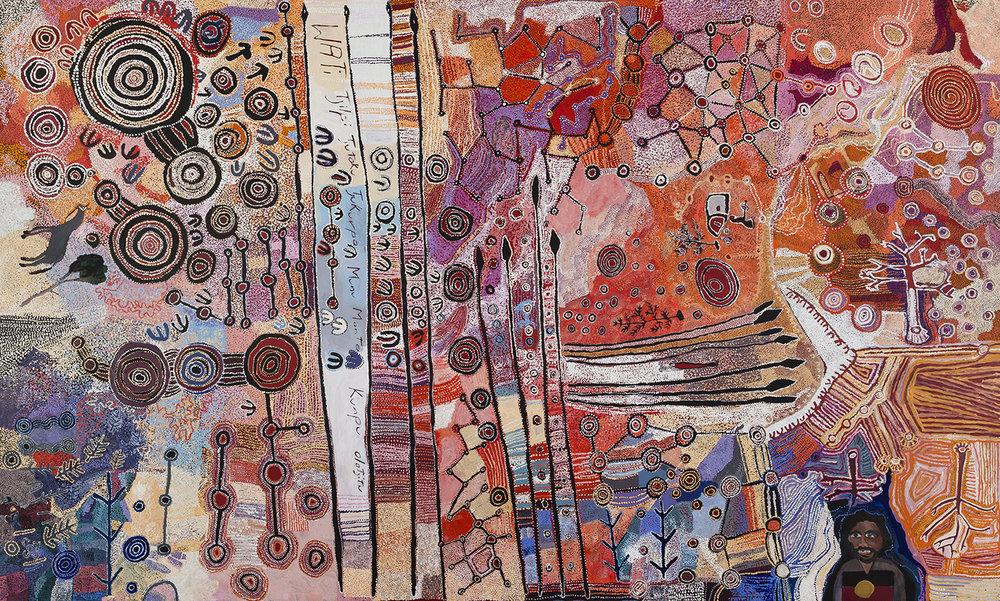 APY LANDS MEn's collaborative painting and kulata tjuta project
