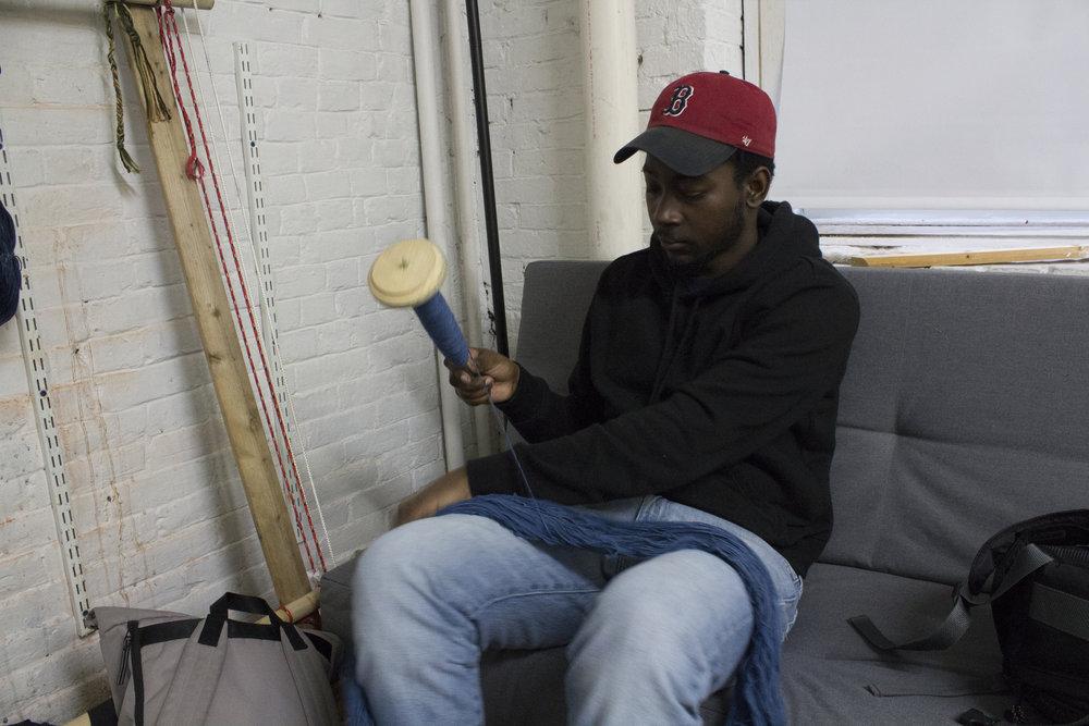 Rashad spooling yarn