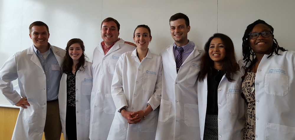new virologists andy hale, becca casazza, ethan fritch, olivia council, max departee, Bhawana Shrestha, tia morgan