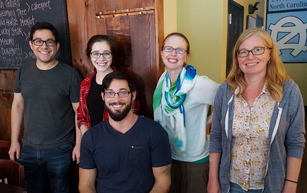 The Lazear lab July 2017: cesar, becca, derek, helen, melissa