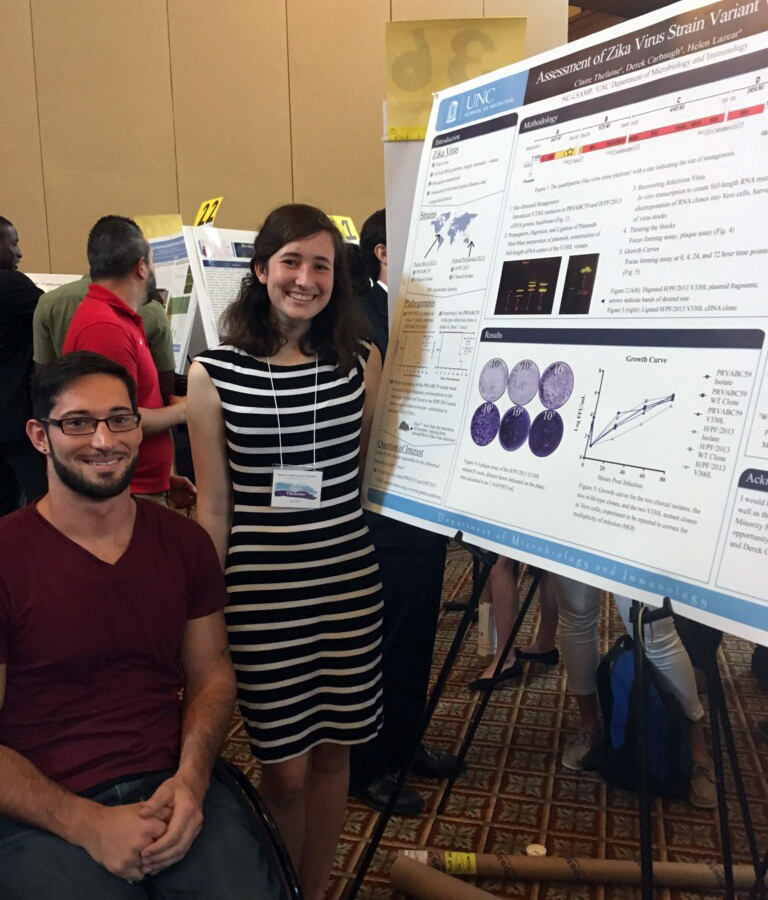Derek and claire at the Smart program poster session