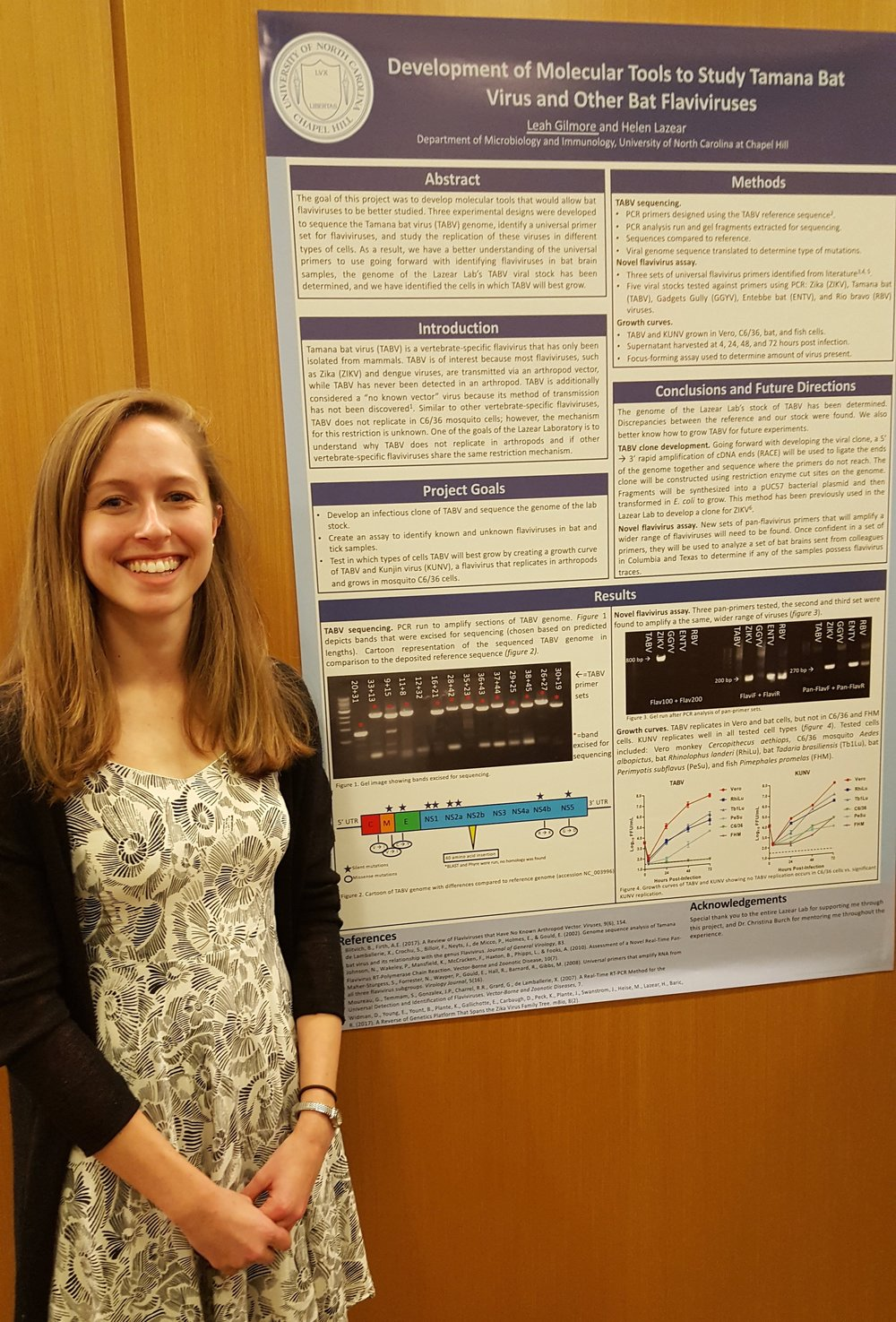 leah presents her project developing tools to study tamana bat virus,