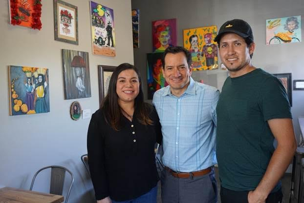 Assembly Speaker Anthony Rendon honored David and Ashley Léon Vasquez for their popular cafe Horchatería Rio Luna in Paramount.