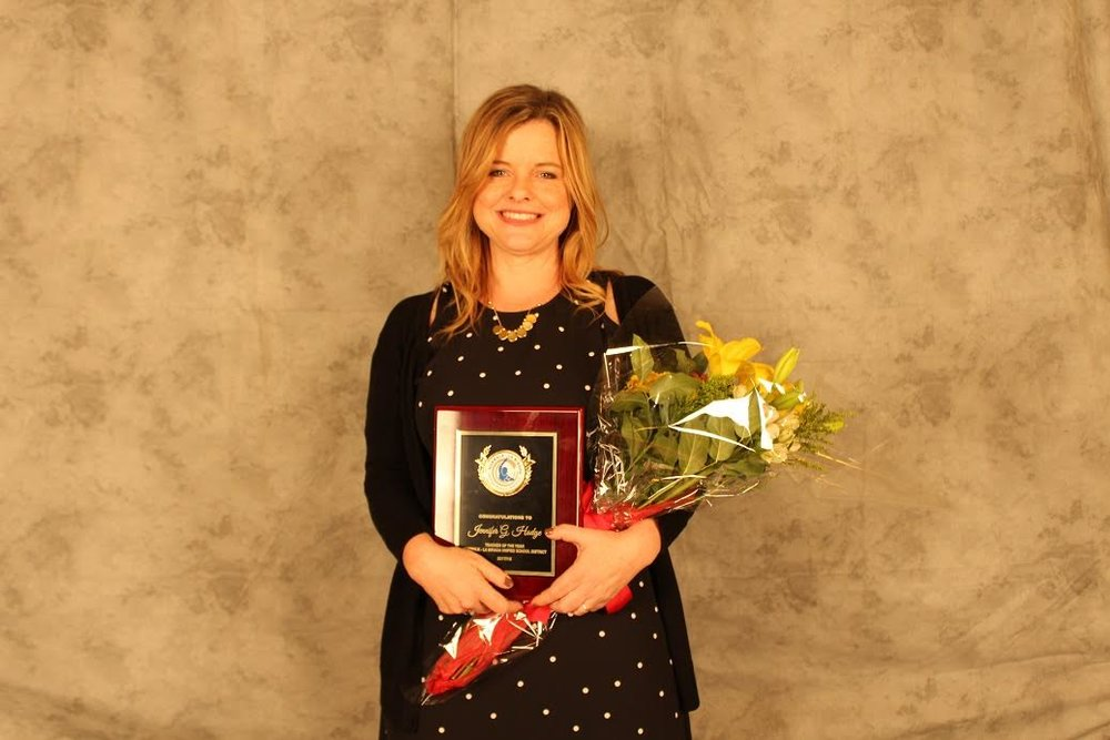 Benton Middle School art teacher Jennifer Hodge has been recognized as Norwalk-La Mirada Unified's 2016-17 Teacher of the Year. Photo | NLMUSD
