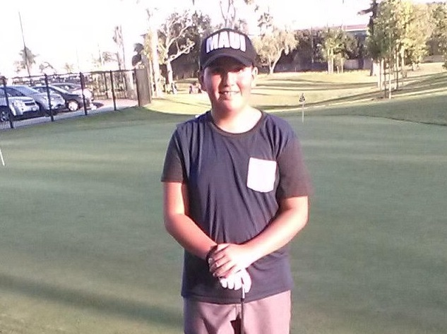 Kainoa Kruse landed the first hole-in-one shot at the newly-renovated Don Knabe Golf Center.  Photo | Raul Samaniego